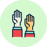 手を挙げる施工会社